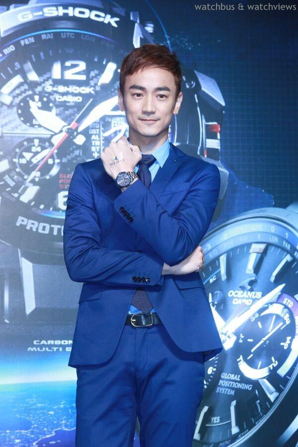 林佑威展現優雅品味,配戴OCEANUS OCW-G1000-1A ,建議售價NT$49,000。