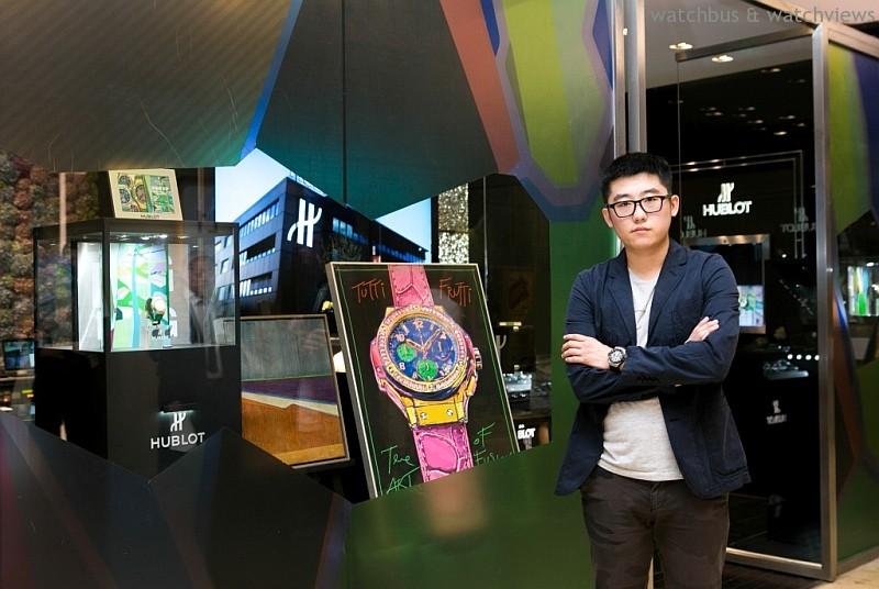 HUBLOT LOVES ART:HUBLOT宇舶錶Big Bang PoP Art女性限量腕錶炫彩亮相,90後新生代藝術家高露迪打造前衛櫥窗藝術
