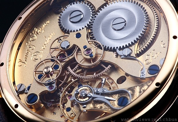 Lange & Heyne的V號機芯具有恆動力與跳秒機制,在現代錶款中非常罕見。