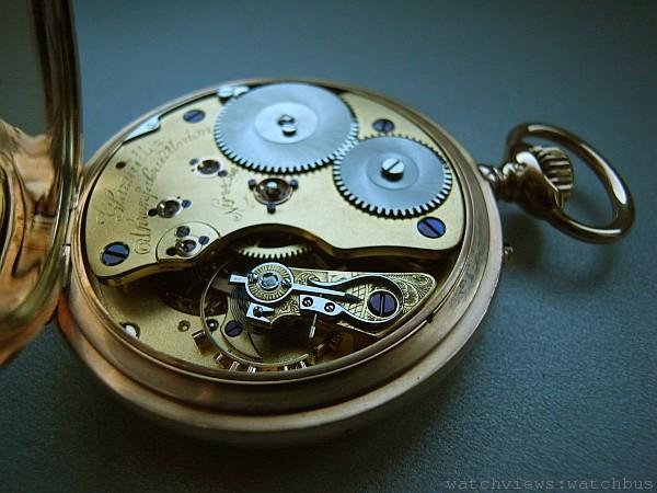 Marco Lange的作品大都遵循德國古董懷錶的概念而設計,包括鑚石的端石,此為早期德國懷錶。