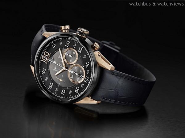 Mikrograph Avant-Garde,碳化鈦塗層5級鈦錶殼,瑞士天文台COSC走時認證,走時振頻每小時28,800轉、計時振頻每小時360,000轉