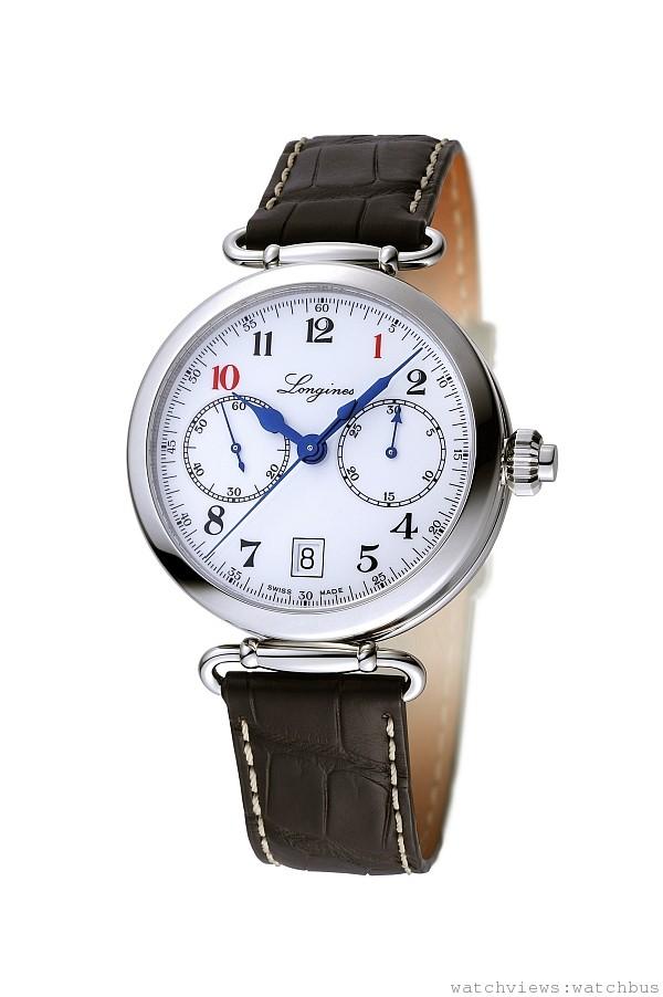 101限量錶款-浪琴表導柱輪單按把計時碼錶