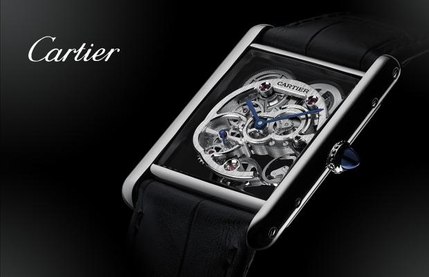 卡地亞2014年高級製錶系列──Tank Louis Cartier藍寶石水晶鏤空腕錶