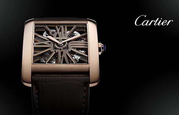 卡地亞2014年高級製錶系列──Tank MC雙色鏤空腕錶