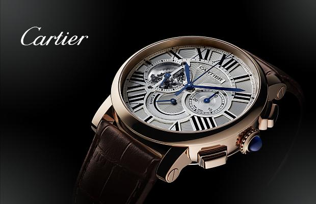 卡地亞2014年高級製錶系列──Rotonde de Cartier八日動力儲存陀飛輪計時碼錶