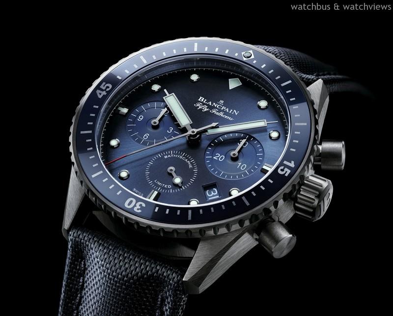 心繫海洋:BLANCPAIN發表「心繫海洋計畫」限量五十噚Bathyscaphe 飛返計時碼錶腕錶