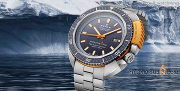 Edox Hydro Sub北極潛水限量錶再度成為為防水深度的歷史傳奇