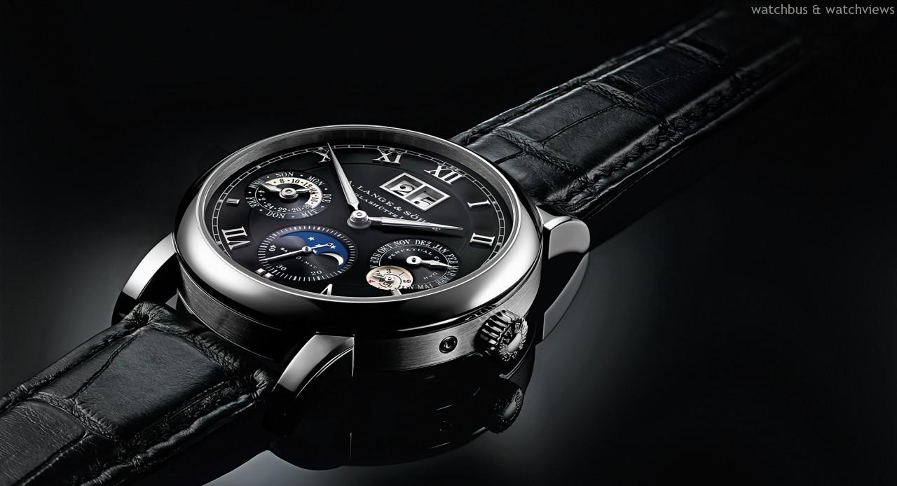 [2014 W&W錶展] 朗格發表Langematik Perpetual萬年曆腕錶,首度搭配18K白色黃金錶殼與黑色錶盤
