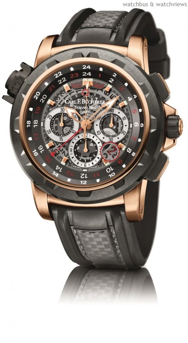 柏拉維 TravelTec FourX三地時區計時碼錶,建議售價NTD1,863,000。