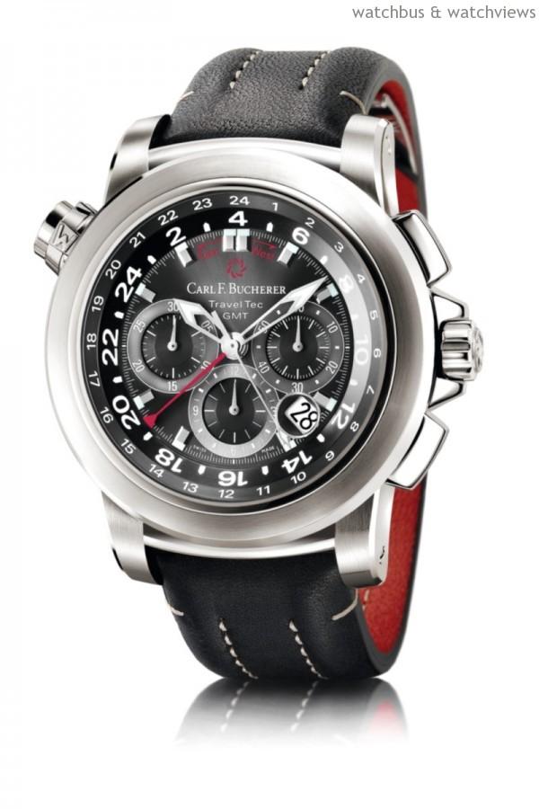 柏拉維 Traveltec三地時區計時碼錶,建議售價NTD383,000。