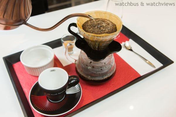 Audi Café特別以Audi頂級性能超跑R8及旗艦房車A8為靈感,打造專屬特調咖啡。