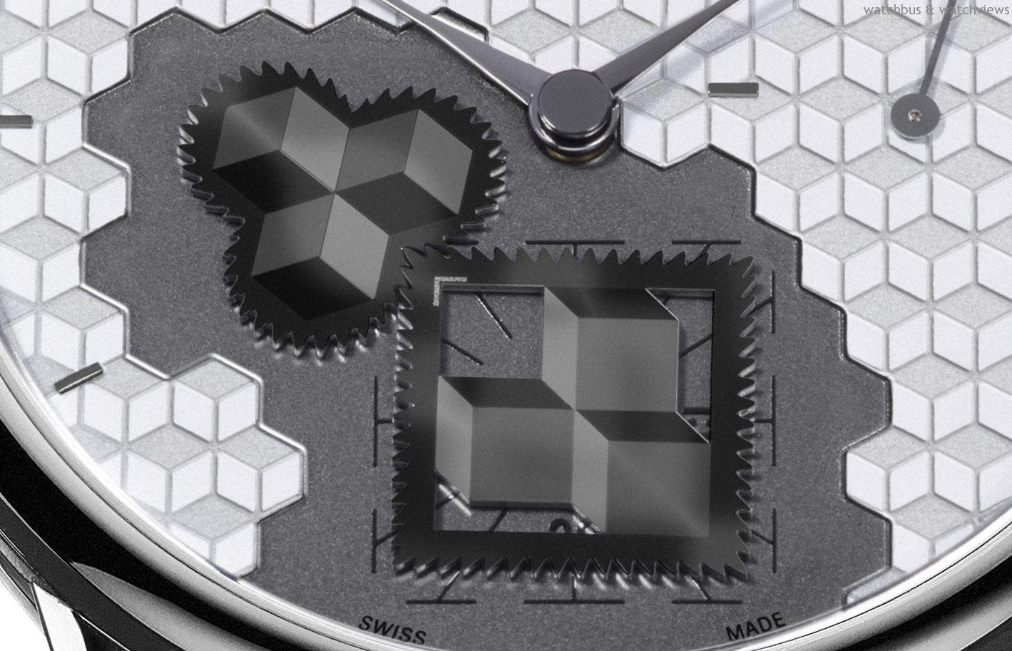 全新艾美匠心方輪立方腕錶  轉動不息的方輪