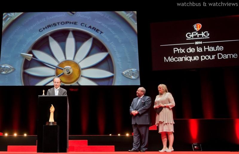 Christophe Claret Margot腕錶在2014年Grand Prix d'Horlogerie de Genève (GPHG)榮獲女裝高端機械錶大獎(Ladies' High-Mech Watch Prize)