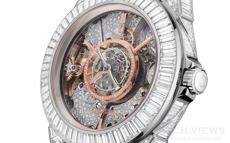 歐米茄碟飛中置陀飛輪腕錶De Ville Central Tourbillon長階梯鑽腕錶