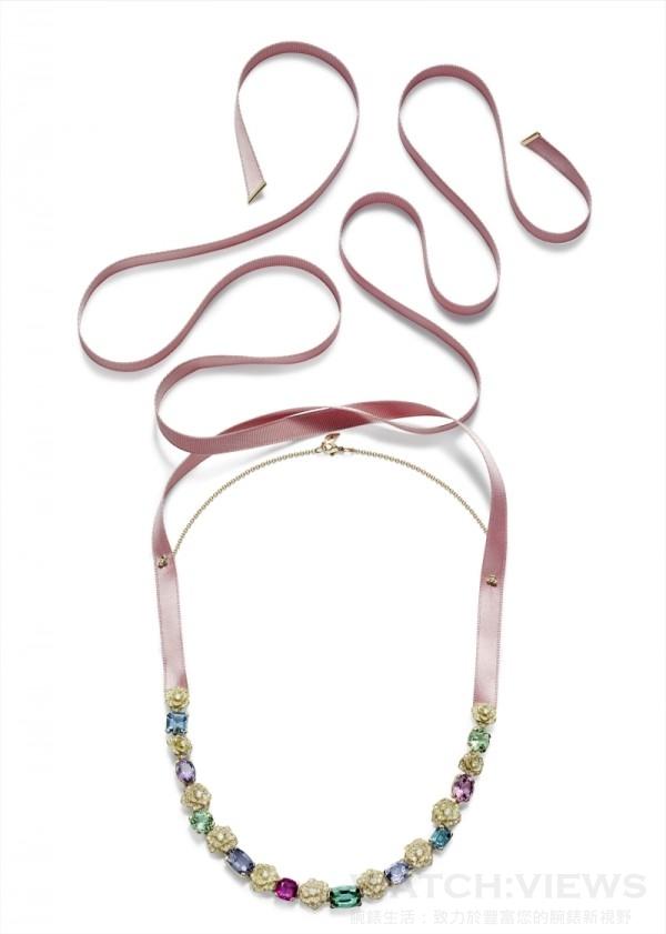 Piaget Rose Passion 項鍊,G37LU200,定價NTD 6,450,000。