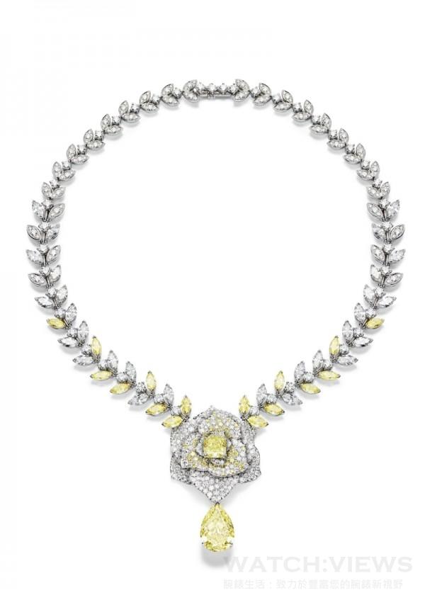 Piaget Rose Passion 項鍊,G37LX440,定價NTD 65,500,000。