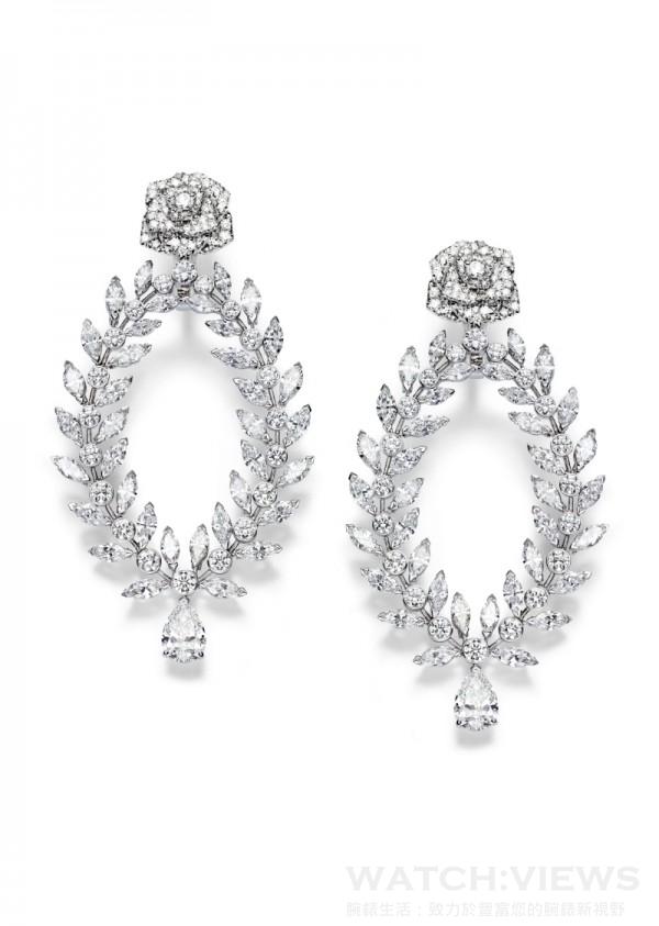 Piaget Rose Passion耳環,G38LS500,定價NTD 9,500,000。