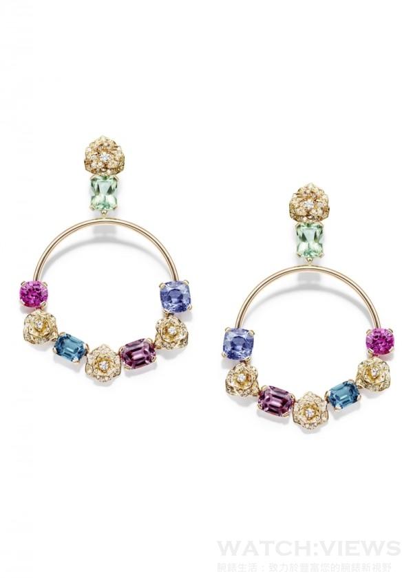 Piaget Rose Passion 耳環,G38LS700,定價NTD 4,560,000。