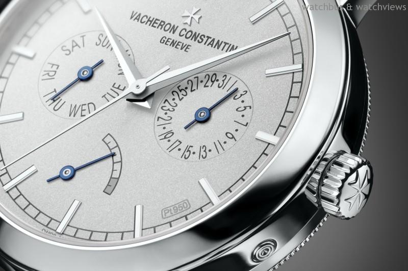 江詩丹頓「限量鉑金珍藏系列」Traditionelle星期日曆動力儲存腕錶,讓時間隨機芯一同律動