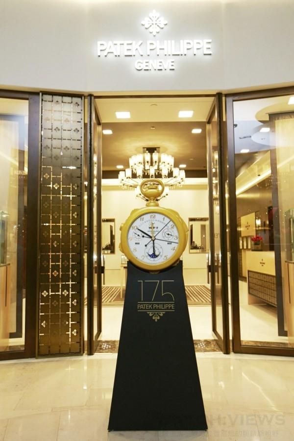 以全世界最精美繁複懷錶的「百達翡麗The Calibre 89」為設計概念的開幕啟動儀式台