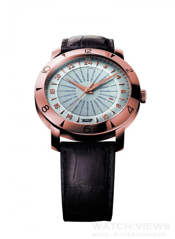 Heritage Navigator 領航者系列160週年復刻紀念錶,不鏽鋼錶殼,時、分、秒、24時區時間,銀色或黑色面盤,2893-3自動上鍊機芯,通過COSC天文台錶認證,防水30米,皮革錶帶附摺疊錶扣。