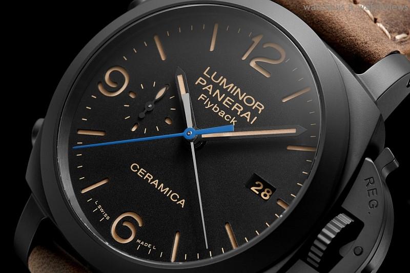 [2015 PRE-SIHH] Panerai Luminor 1950 3 Days Chrono Flyback Automatic Ceramica – 44毫米3日動力儲存飛返計時自動陶瓷腕錶,搭載首枚沛納海自製之P.9100自動上鏈計時機芯