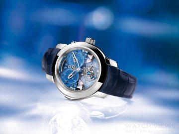 ULYSSE NARDIN雅典錶 獨立創新名家最新力作  《Imperial Blue》西敏寺鐘樂自鳴單問 + 四錘三問陀飛輪腕錶