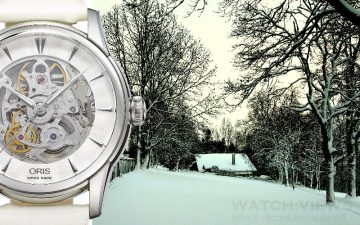 Oris Artelier藝術家鏤空純白腕錶 純白剔透,點綴耶誕錶情
