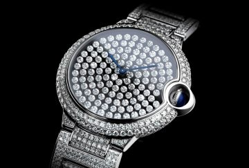 【2015 SIHH報導】令鑽石自由舞動的創新鑲嵌工藝:Ballon Bleu de Cartier「舞動」鑲鑽腕錶
