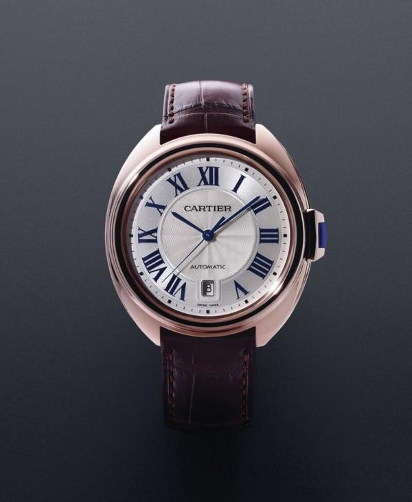 Clé de Cartier腕錶, 18K玫瑰金錶殼,直徑40毫米,時、分、秒、日期顯示,卡地亞1847 MC型工作坊精製自動上鏈機械機芯。
