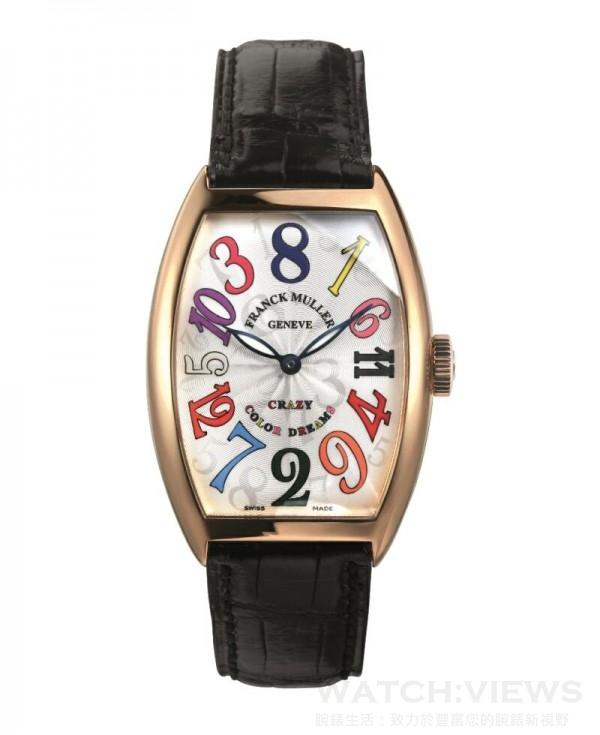 FRANCK MULLER Crazy Hours Color Dreams玫瑰金腕錶 ,定價NTD 960,000。