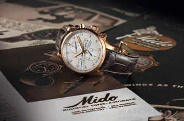 締造經典永恆 :MIDO美度表 2015嶄「芯」突破, 先鋒系列80周年推出三眼計時限量腕錶