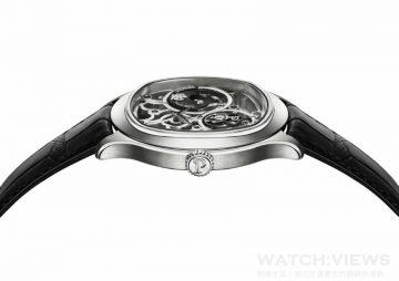 【2015 SIHH報導】Piaget Emperador Coussin 1270S 超薄鏤空自動上鍊陀飛輪腕錶