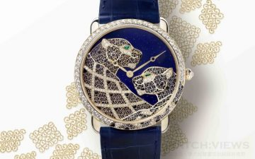 [2015 Pre-SIHH] 卡地亞金絲細工藝術精品:Ronde Louis Cartier Filigrane金銀絲細工美洲豹裝飾腕錶