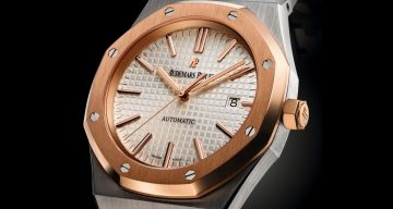 【2015 SIHH報導】愛彼推出41毫米皇家橡樹雙色自動上鍊腕錶與33毫米皇家橡樹雙色女裝腕錶
