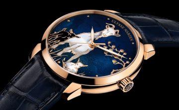 雅典錶於2015年隆重推出《鎏金羊年腕錶》