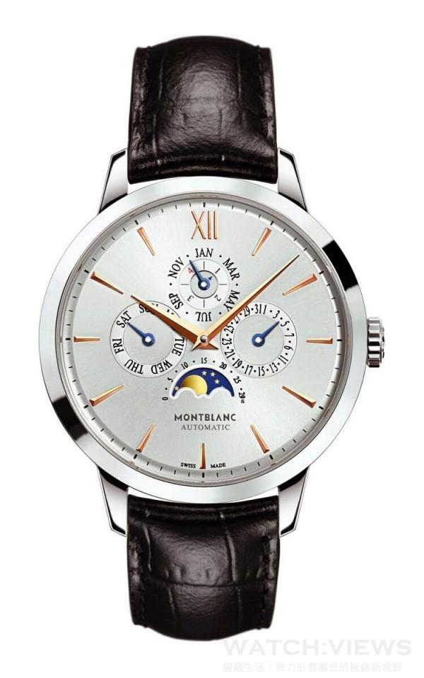 萬寶龍Meisterstück  Heritage大師傑作傳承系列萬年曆腕錶,NT$398,000。
