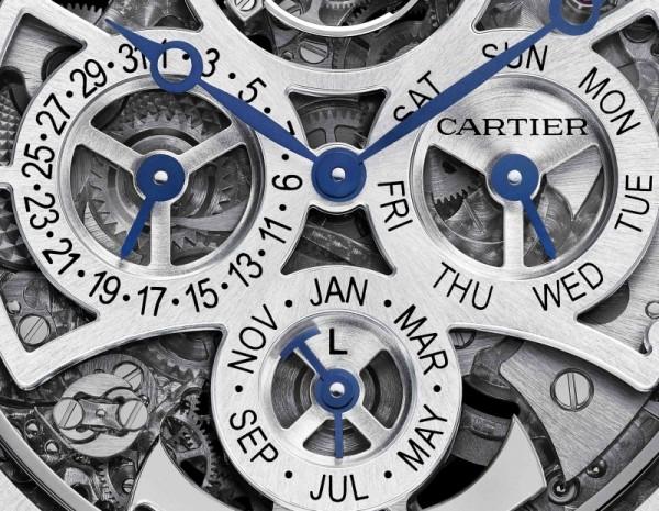 Rotonde de Cartier大型複雜功能腕錶的萬年曆顯示