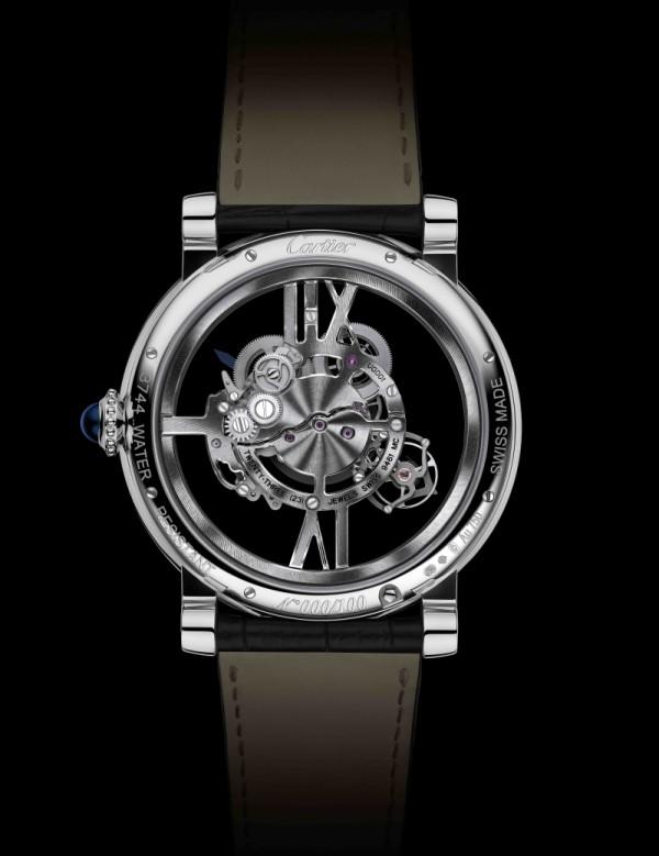 Rotonde de Cartier Astrotourbillon 卡地亞天體運轉式陀飛輪鏤空腕錶搭載9461 MC型工作坊精製手動上鏈機械機芯