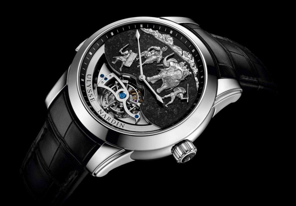 【2015Pre-Basel報導】完美收藏西敏寺大鵬鐘樂的活動人偶陀飛輪限量逸品──雅典錶漢尼拔三問報時腕錶