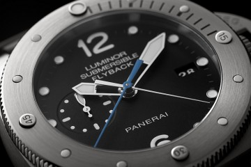 【2015 SIHH報導】沛納海Luminor Submersible 1950 3 Days Chrono Flyback Automatic Titanio – 47毫米3日動力儲存飛返計時自動專業潛水鈦金屬腕錶