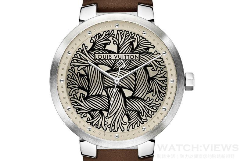 LOUIS VUITTON路易威登發表Tambour Damier Rope男錶與Ramage珊瑚圖騰度假系列珠寶錶