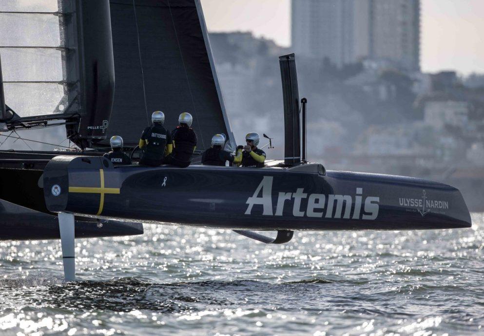 雅典錶成為第35屆美洲盃帆船賽瑞典船隊 ARTEMIS RACING 官方合作夥伴