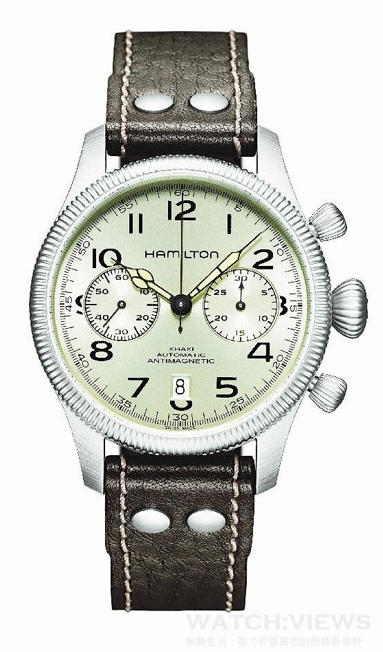 哈里遜福特和漢米爾頓合作設計的Khaki Conservation自動計時碼錶。