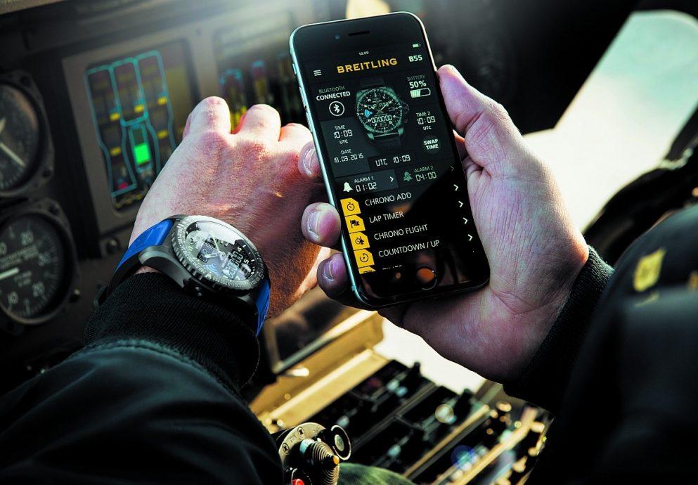 【2015 Basel錶展報導】百年靈重新創造智慧連結—智慧計時B55 CONNECTED腕錶