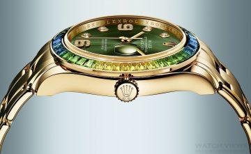 【2015 Basel錶展報導】令男士也風靡的寶石鑲嵌工藝:勞力士Oyster Perpetual Datejust Pearlmaster 39