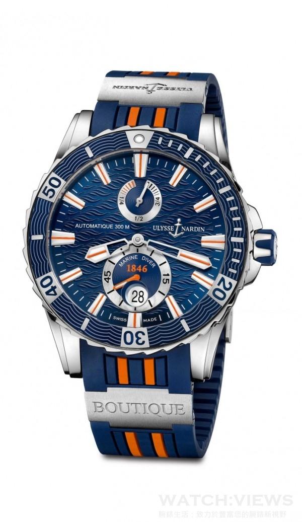 天母專賣店航海潛水腕錶,建議售價NT$284,000。