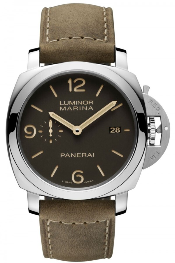 PAM00608,LUMINOR 1950 3 DAYS AUTOMATIC ACCIAIO – 44毫米 3日動力儲存精鋼自動腕錶