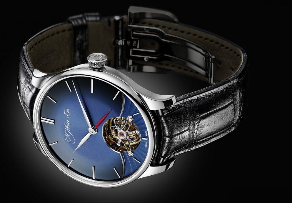 【2015 Basel錶展報導】H. Moser & Cie.亨利·慕時推出Venturer Tourbillon Dual Time Midnight Blue Fumé Dial冒險者陀飛輪兩地時腕錶等多款全新腕錶
