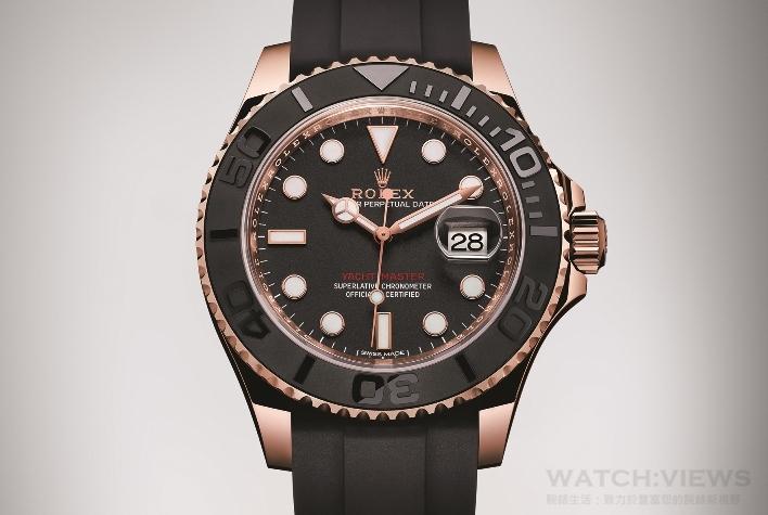 精準實用•進化之選:ROLEX Yacht-Master 18ct永恒玫瑰金黑色錶款